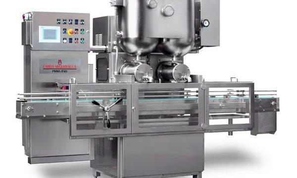 Полуавтоматическая машина для наполнения фруктовых джемов с двойной головкой