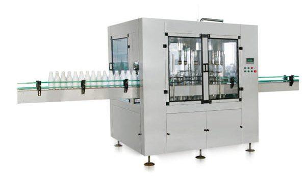 Восьмиглавная автоматическая линейная поршневая машина для наполнения жидким мылом