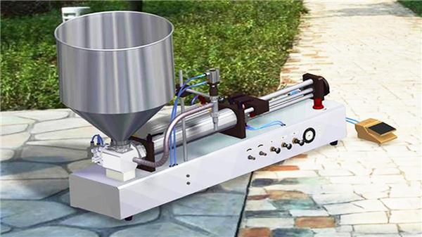 Полуавтоматическая машина для наполнения зубных паст