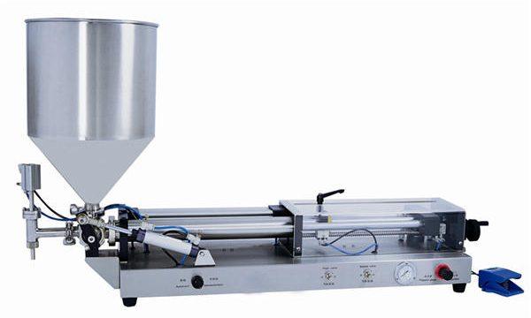 Полуавтоматическая машина для фасовки пасты на 3 мл-5 л