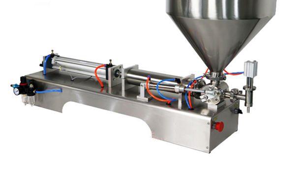 Полуавтоматическая поршневая машина для наполнения густым соусом